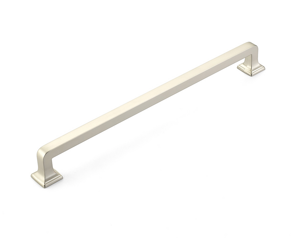 "Menlo Park 15"" Appliance Pull - Fridge Pull in Satin Nickel"