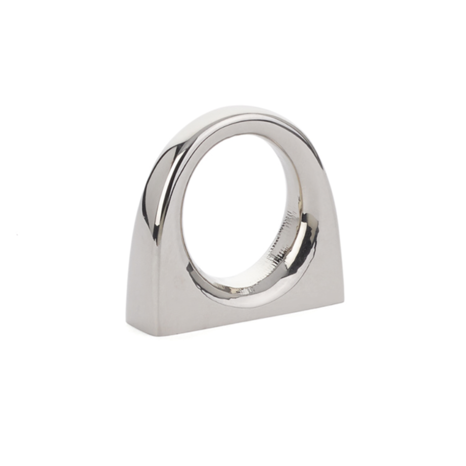Luxe Bridge Cabinet Knob in Polished Nickel