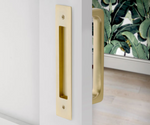 Door Flush Pull and Handle Front and Back Hardware for Interior Doors - Brass Cabinet Hardware