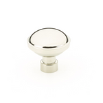 "Industrial Modern ""Brandt"" Round Cabinet Knob in Polished Nickel - Brass Cabinet Hardware"