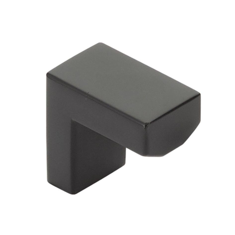 Modern Rectangular Keaton Finger Pull in Matte Black - Brass Cabinet Hardware