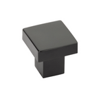 Modern Rectangular Hunter Finger Pull in Matte Black