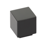 "Modern Rectangular ""Allerton"" Square Knob in Matte Black - Brass Cabinet Hardware"