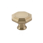 "Transitional Heritage ""Midvale"" Knob in Satin Brass - Brass Cabinet Hardware"