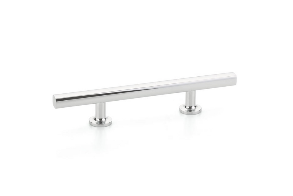 Freestone T-Bar Drawer Pulls in Polished Chrome - Brass Cabinet Hardware