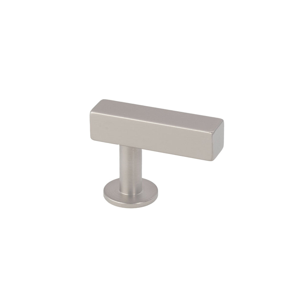 Lew's Hardware Nickel Bar Series 11-101 Brushed Nickel Bar Knob - Brass Cabinet Hardware