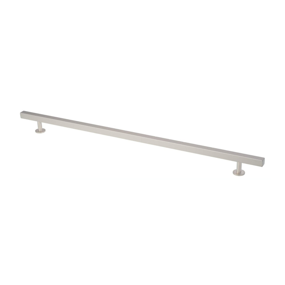 "Lew's Hardware Nickel 11-105 Bar Pull, 12"" or 15"" Centers Adjustable, 18"" Length - Brass Cabinet Hardware"