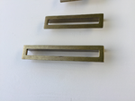 Linea Antique Drawer Pulls - Cabinet Handles - Brass Cabinet Hardware