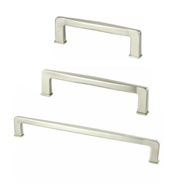 Kelly No.1 Satin Nickel Cabinet Drawer Pulls - Brass Cabinet Hardware