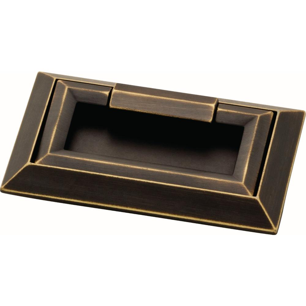 Modern Campaign Style Bronze Drawer Pull - Brass Cabinet Hardware