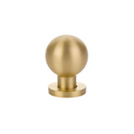 Luxe Contemporary Satin Brass Round Ball Knob