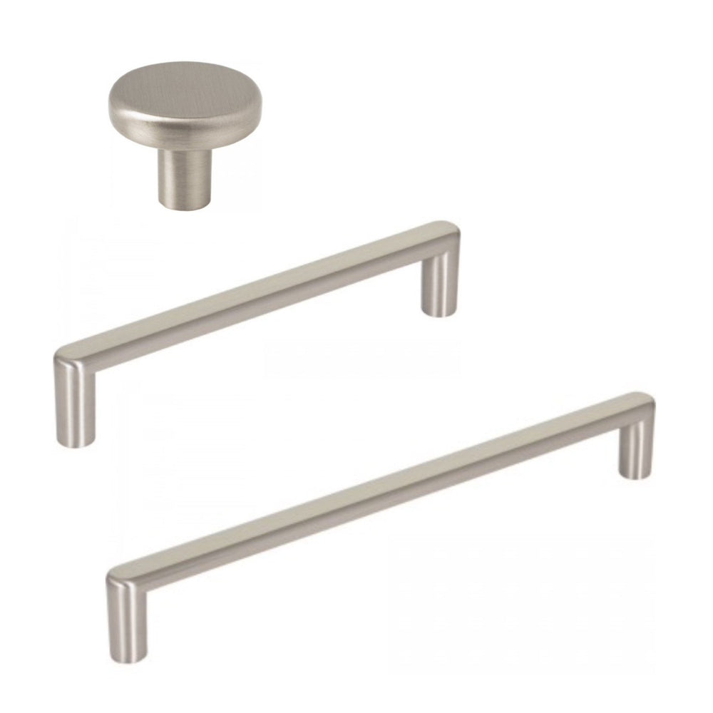 "Satin Nickel ""Charlie"" Drawer Pulls and Cabinet Knobs"