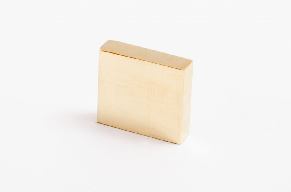 "Straight Edge ""Kurt 01"" Scandinavian Modern Drawer Pulls - Brass Cabinet Hardware"