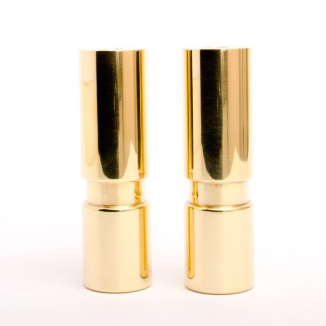 Set of 2 Medium Mid-century Modern Furniture Legs Replacement Legs in Polished Brass