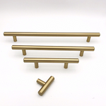 "Round Champagne Bronze ""Dash"" Knob and Drawer Pulls - Brass Cabinet Hardware"