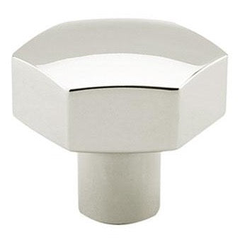 Geo Polished Nickel Knob   Geometric Cabinet Hardware
