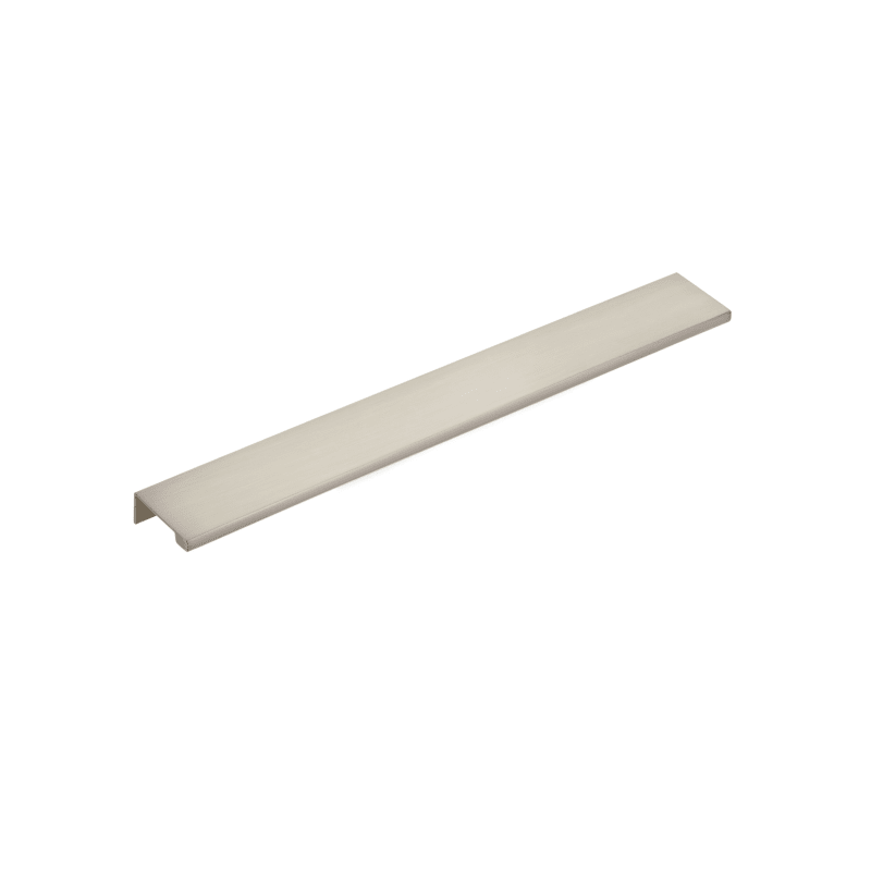 "Satin Nickel ""Dina"" Tab Finger Drawer Pulls - Brass Cabinet Hardware"