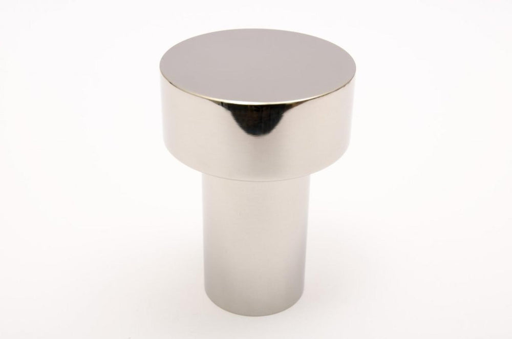 "Modern ""Dot"" Round Wall Hook in Polished Nickel"