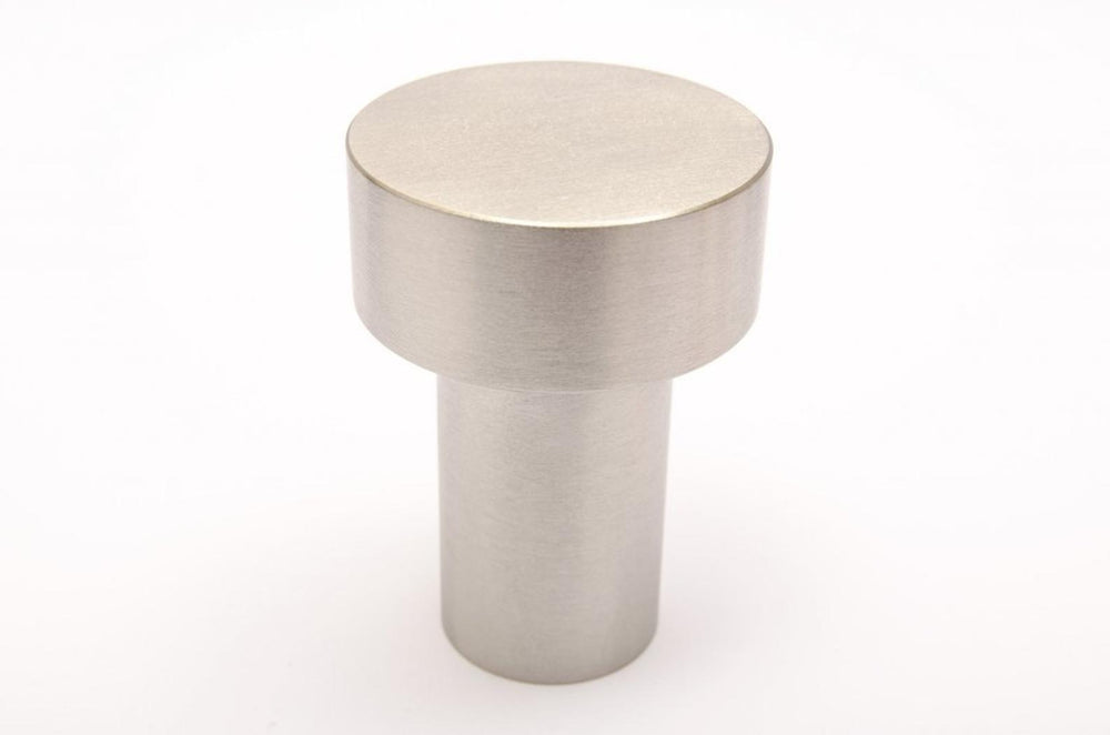 "Modern ""Dot"" Round Wall Hook in Brushed Nickel"