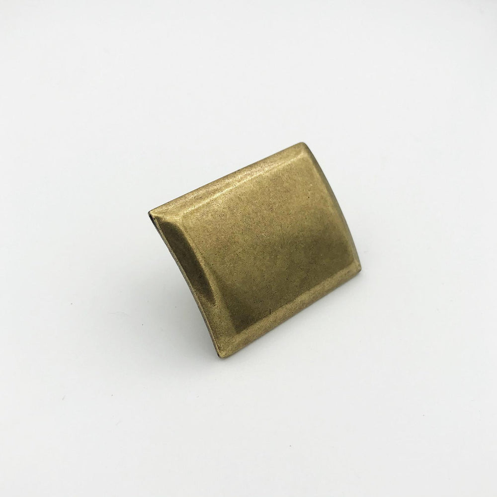 "Rectangular Drawer  ""Roman"" Pulls in Aged Brass"