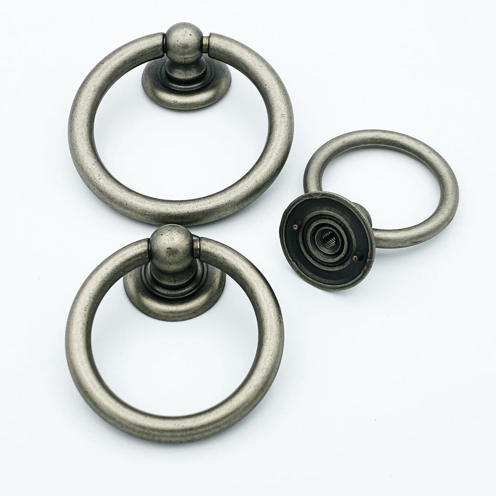 Plain Antique Silver Ring Pulls Hardware Cabinet Pull Drawer Pull