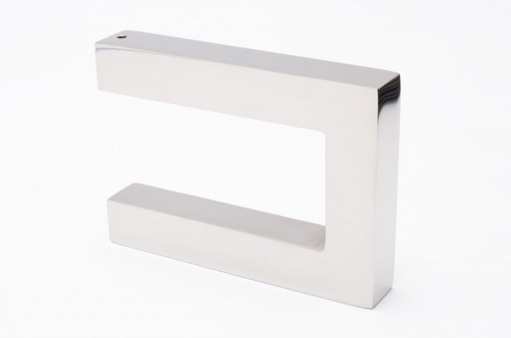 "Modern ""Gate"" Polished Stainless Steel Square Wall Hook - Hardware Wall Coat Hook"