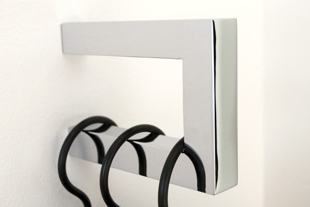 "Modern ""Gate"" Brushed Stainless Steel Square Wall Hook - Hardware Wall Coat Hook"