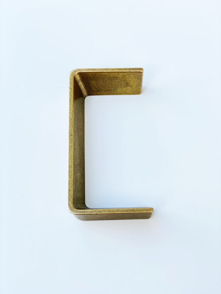 Palma Aged Brass Half-Square Drawer Handles
