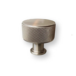 "Brushed Nickel Solid ""Texture"" Knurled Drawer Pulls and Knobs"