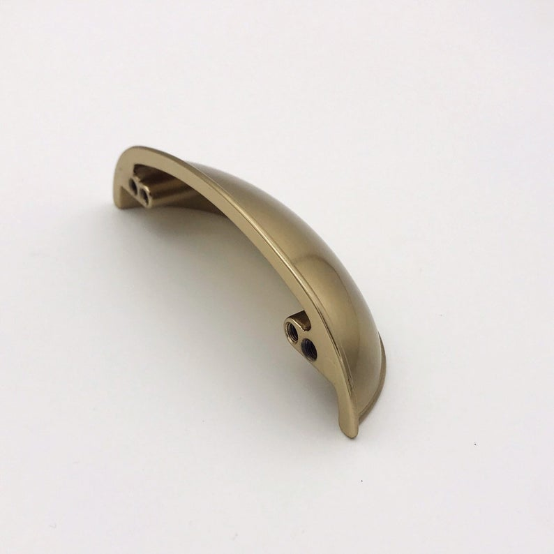 Mina Champagne Bronze Cup Drawer Pull - Brass Cabinet Hardware