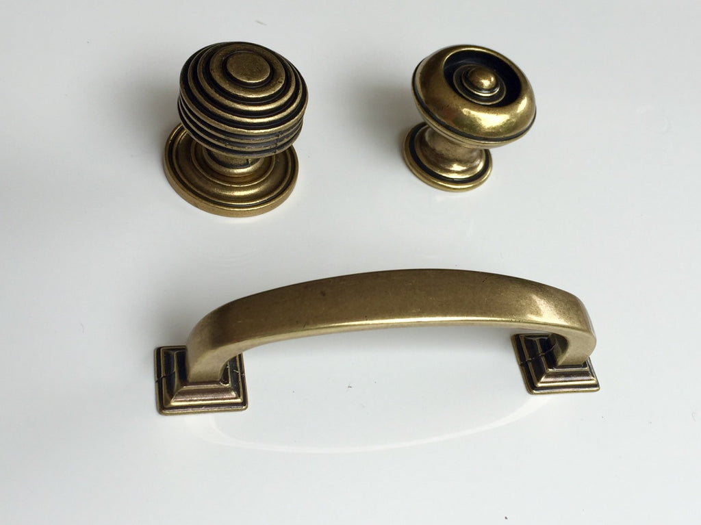 3 Quot Reeded Cabinet Pull Kitchen Drawer Pull In Antique