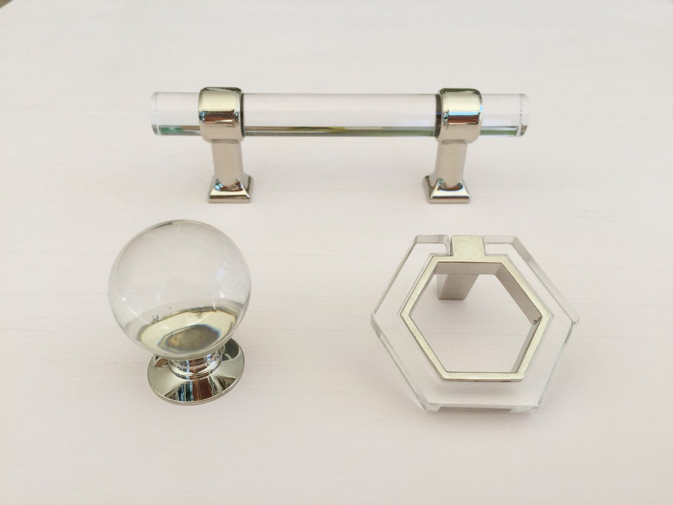 Polished Nickel Lucite 3\