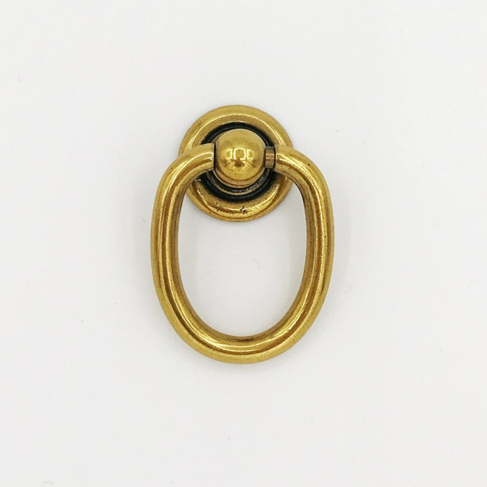 "Ring Brass Pulls ""Oval"" Hardware Cabinet Pull Drawer Pull - Brass Cabinet Hardware"