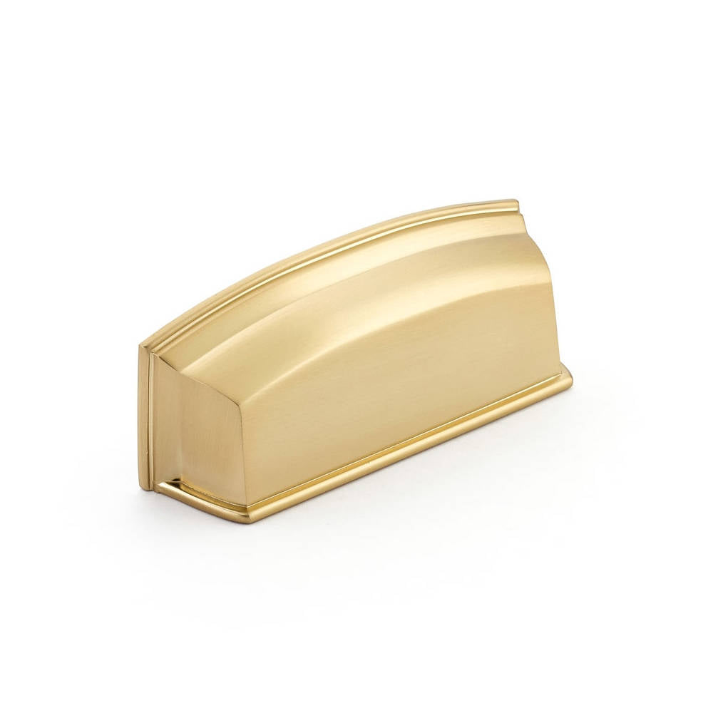 Menlo Park Brass Cabinet Cup Drawer Pull - Kitchen Handle - Brass Cabinet Hardware