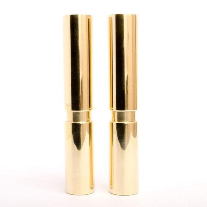 Set of 2- Mid-century Modern Furniture Legs Replacement Legs in Polished Brass - Brass Cabinet Hardware