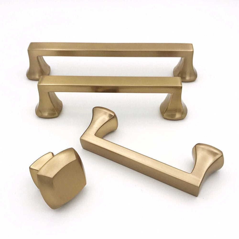"Champagne Bronze ""Avant"" Cabinet Knobs and Pulls - Brass Cabinet Hardware"