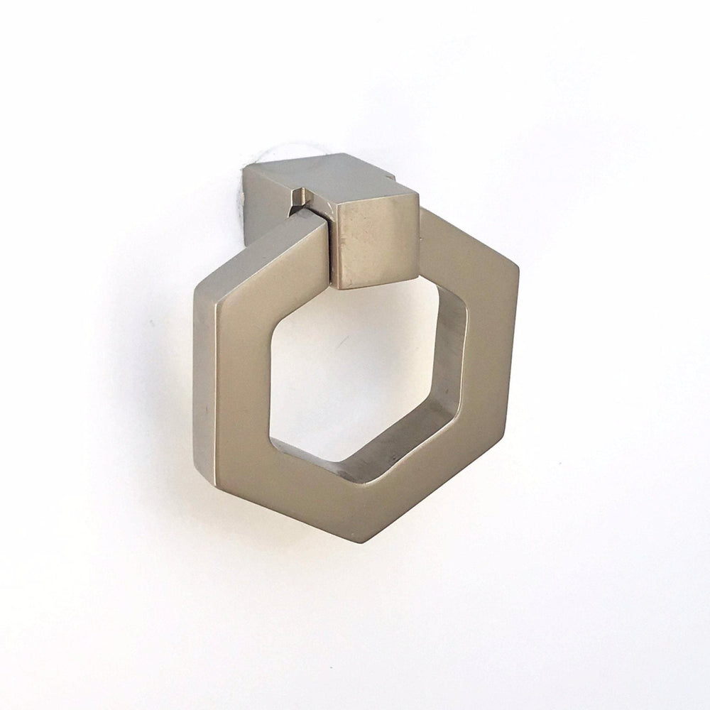 Zimi Satin Nickel Octagon Ring Pull