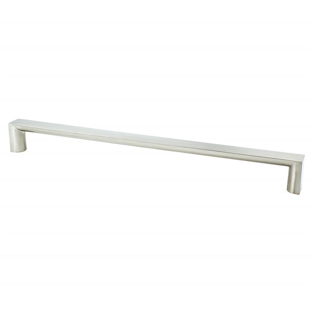 "Brushed Nickel ""Tila"" Wide Drawer Pulls and Knob - Brass Cabinet Hardware"