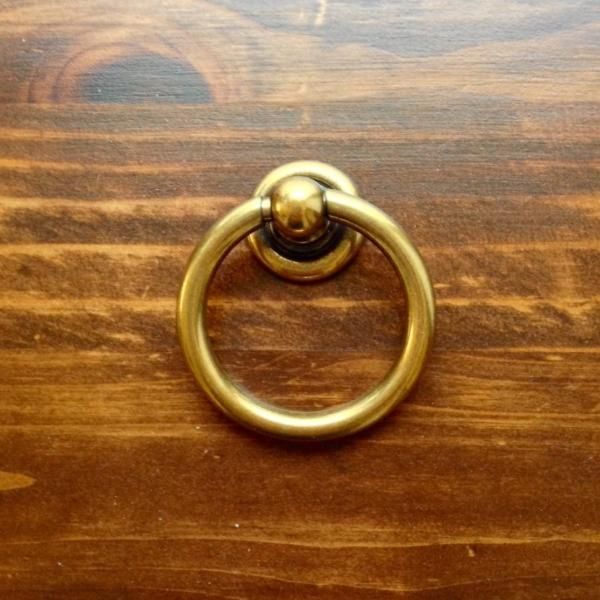 Plain Brass Ring Pulls Hardware Cabinet Pull Drawer Pull – Forge ...