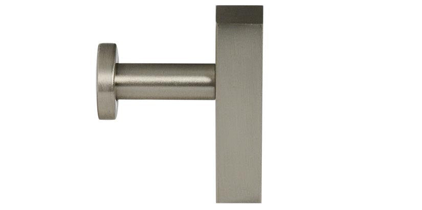 European T-Bar Brushed Nickel Cabinet Knob - Brass Cabinet Hardware