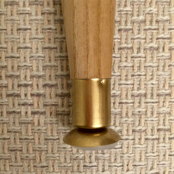 "Replacement Leg 5-1/5"" Mid-century Modern Brass - Ikea Hack - Brass Cabinet Hardware"