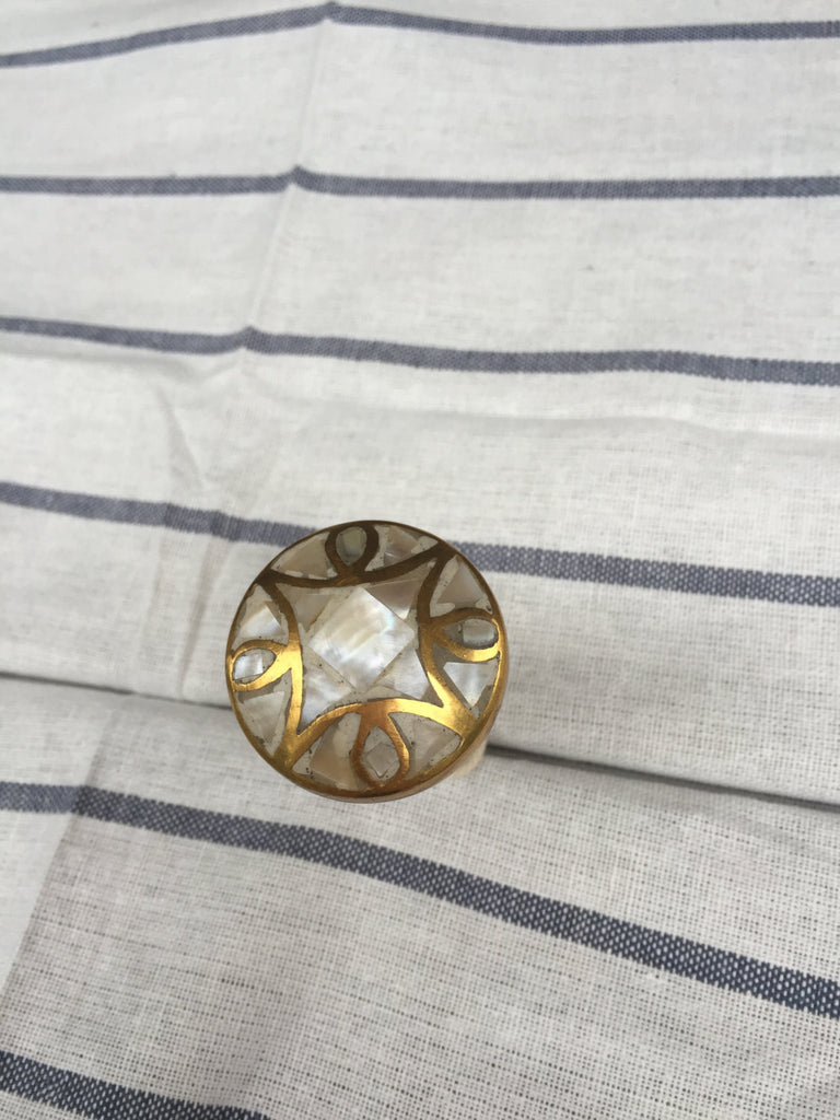 Mother Of Pearl Modern Gold Cabinet Knob Drawer Pull