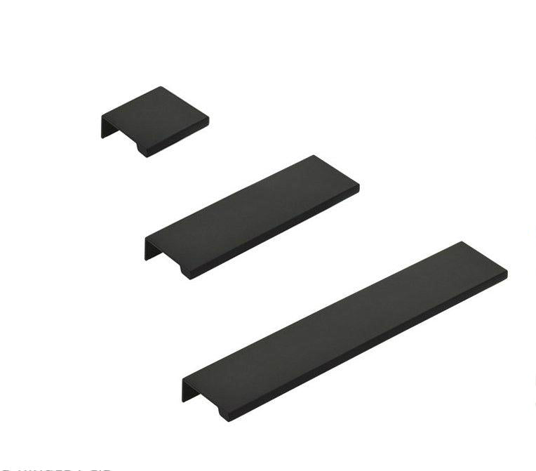 "Matte Black ""Dina"" Tab Finger Drawer Pulls"