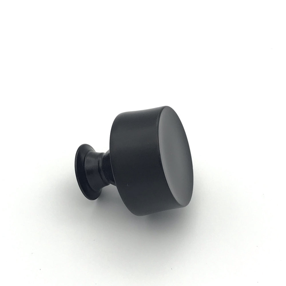 Emma Round Mid-Century Matte Black Cabinet Knob and Drawer Pulls