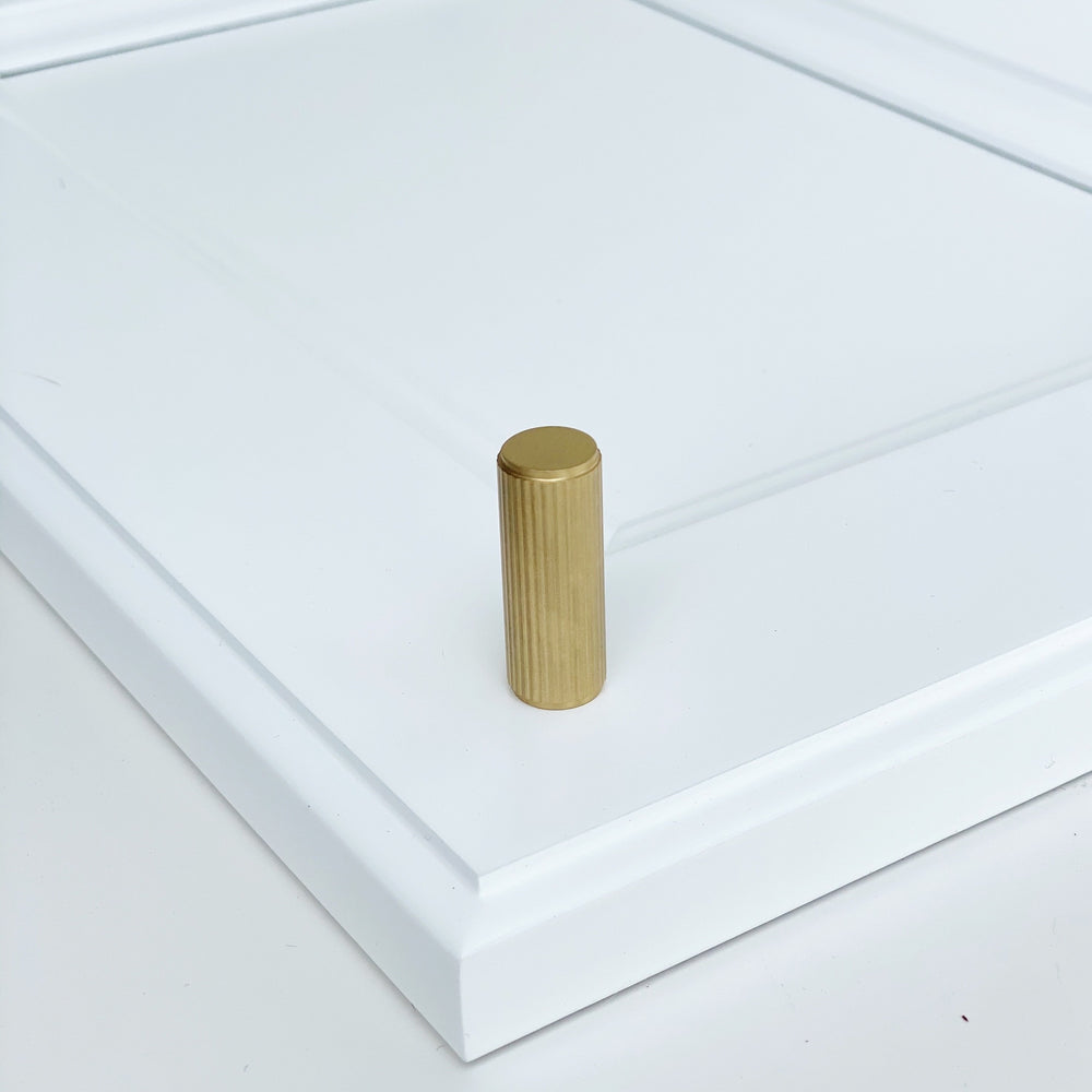 "Brass Solid ""Texture Lines"" Knurled Drawer Pulls and Knobs in Satin Brass"