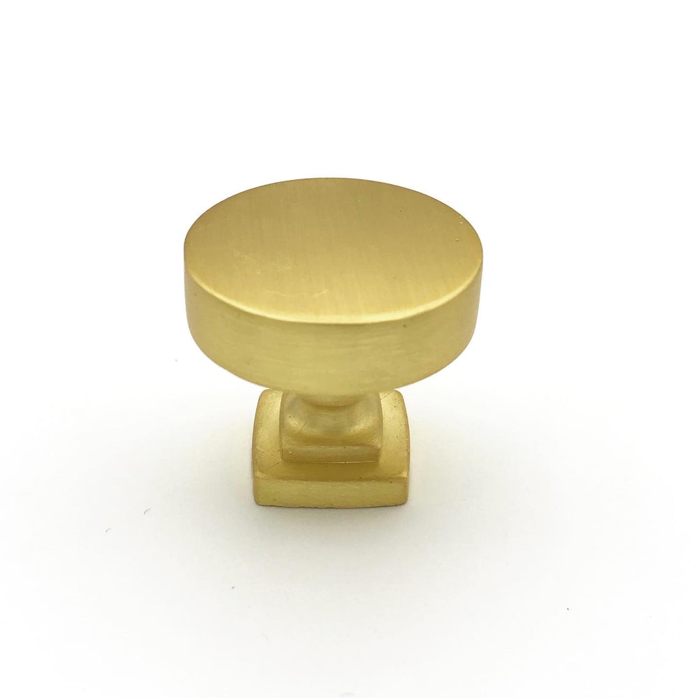Rita Brushed Brass Drawer Pulls, Campaign Pull and Knobs - Brass Cabinet Hardware