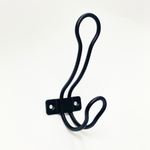 "Modern ""Loop"" Matte Black Wall Coat and Hat Hook"
