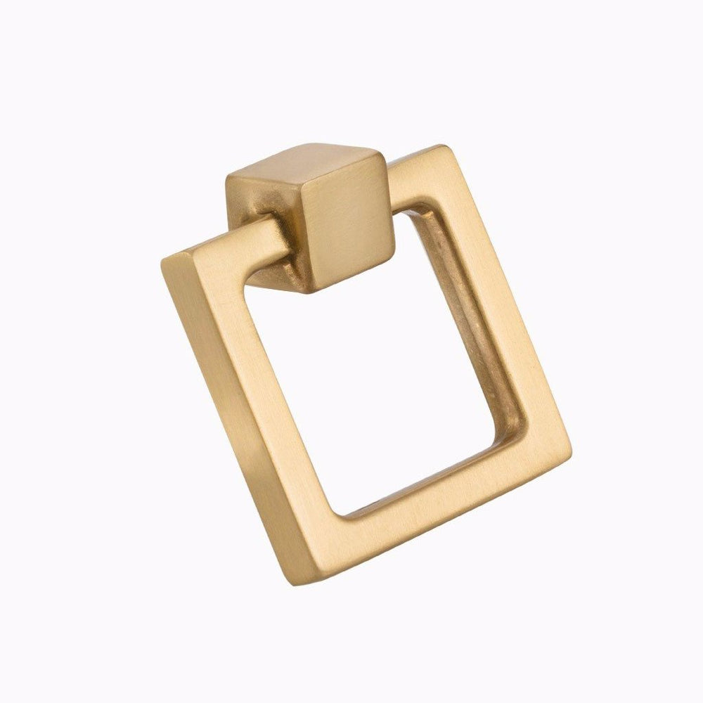 "Square Duane 1-13/16"" Brass Ring Pull"