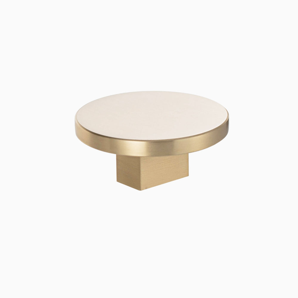 "Round Large Diana 2"" Brass Cabinet and Drawer Knob - Brass Cabinet Hardware"