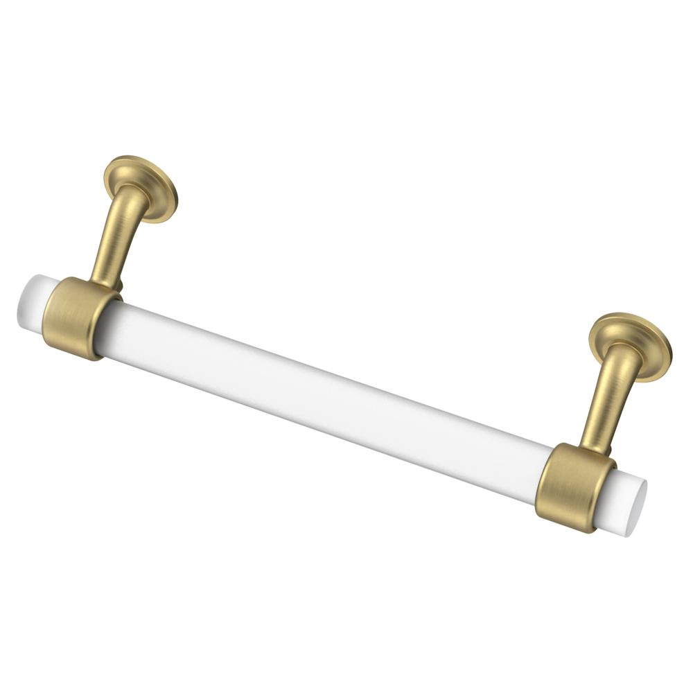 "Lucite and Brass ""Romi"" Cabinet Knob and Drawer Handles - Brass Cabinet Hardware"